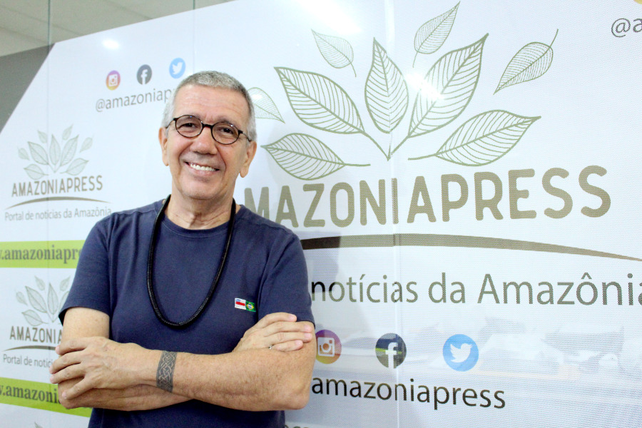 Convidado do Amazonia Press no Ar, Rui Machado conta sua trajetória como artista / Foto: Francisco Araújo